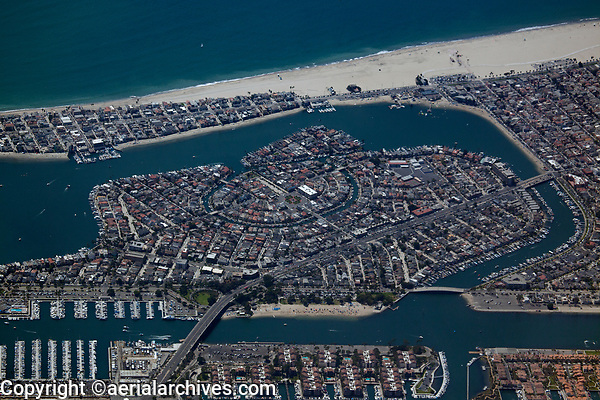 aerial photograph of Naples, Long Beach, Los Angeles County, California