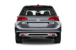 Straight rear view of 2017 Volkswagen Golf-Alltrack SEL 5 Door Wagon Rear View  stock images