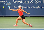 August 14,2019:   Yulia Putintseva (KAZ) loses to Sloane Stephens (USA) 2-6, 6-4, 6-3, at the Western & Southern Open being played at Lindner Family Tennis Center in Mason, Ohio.  ©Leslie Billman/Tennisclix/CSM