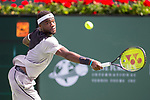 March 09, 2018: Frances Tiafoe (USA) defeated by Ernesto Escobedo (USA) 7-5, 6-3 at the BNP Paribas Open played at the Indian Wells Tennis Garden in Indian Wells, California. ©Mal Taam/TennisClix/CSM
