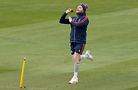 Sam Cook of Essex warms up prior to Essex CCC vs Worcestershire CCC, LV Insurance County Championship Group 1 Cricket at The Cloudfm County Ground on 8th April 2021
