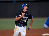 IMG Academy Ascenders Drew Gray (15) running the bases during a game against the Jesuit Tigers on April 21, 2021 at IMG Academy in Bradenton, Florida.  (Mike Janes/Four Seam Images)
