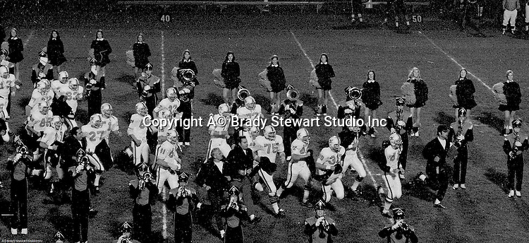 Bethel Park PA:  Bethel Park Band and Bethettes performing as the Football Team ran onto the field. The team was finally able to wear the new uniforms that were supposed to be ready for opening night against Baldwin. Coaches; Rudy Andabaker, Mouch Mongelluzzo, Ron Eisaman, and Biff Baker