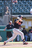 Kavin Keyes #3 of the Oregon State Beavers bats against the Southern California Trojans at Dedeaux Field on May 23, 2014 in Los Angeles, California. Southern California defeated Oregon State, 4-2. (Larry Goren/Four Seam Images)