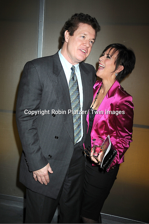 Michael O' Leary and Colleen Zenk  posing for photographers at the 3rd Annual Indie Soap Awards on February 21, 2012 at New World Stages .in New York City.
