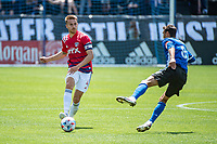 SAN JOSE, CA - APRIL 24: Bressan #4 of FC Dallas passes the ball during a game between FC Dallas and San Jose Earthquakes at PayPal Park on April 24, 2021 in San Jose, California.
