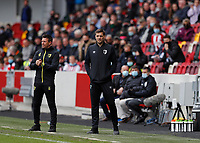 22nd May 2021; Brentford Community Stadium, London, England; English Football League Championship Football, Playoff, Brentford FC versus Bournemouth; Bournemouth manager Jonathan Woodgate looks on from the touchline