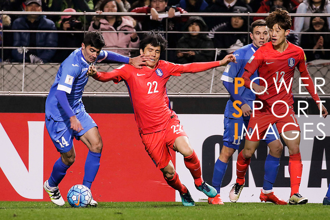 Korea Republic vs Uzbekistan during their 2018 FIFA World Cup Russia Asian Qualifiers Final Qualification Round Group A match at the Seoul World Cup Stadium on 15 November 2016 in Seoul, South Korea. Photo by Ryu / Power Sport Images
