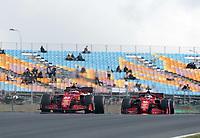 8th October 2021; Formula 1 Turkish Grand Prix 2021 free practise at the Istanbul Park Circuit, Istanbul;  Carlos Sainz Jr. ESP 55, Scuderia Ferrari Mission Winnow, Charles Leclerc MCO 16, Scuderia Ferrari Mission Winnow