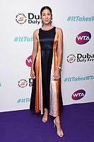 LONDON, UK. June 28, 2019: Garbine Muguruza arriving for the WTA Summer Party 2019 at the Jumeirah Carlton Tower Hotel, London.<br /> Picture: Steve Vas/Featureflash