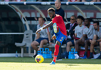 CARSON, CA - FEBRUARY 1: Keysher Fuller #4 of Costa Rica passes off the ball during a game between Costa Rica and USMNT at Dignity Health Sports Park on February 1, 2020 in Carson, California.