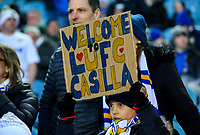 A young Leeds United fan holds up a banner in support of recent arrival Kiko Casilla<br /> <br /> Photographer Alex Dodd/CameraSport<br /> <br /> The EFL Sky Bet Championship - Leeds United v Norwich City - Saturday 2nd February 2019 - Elland Road - Leeds<br /> <br /> World Copyright © 2019 CameraSport. All rights reserved. 43 Linden Ave. Countesthorpe. Leicester. England. LE8 5PG - Tel: +44 (0) 116 277 4147 - admin@camerasport.com - www.camerasport.com
