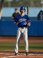 Jesuit Tigers Tyler Corish (14) bats during a game against the IMG Academy Ascenders on April 21, 2021 at IMG Academy in Bradenton, Florida.  (Mike Janes/Four Seam Images)