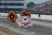 May 1, 2011; Baytown, TX, USA: NHRA pro stock driver Greg Stanfield during the Spring Nationals at Royal Purple Raceway. Mandatory Credit: Mark J. Rebilas-
