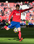 Gabriel Fernandez Arenas, Gabi, of Atletico de Madrid warms up prior to the La Liga 2017-18 match between Atletico de Madrid and UD Las Palmas at Wanda Metropolitano  on January 28 2018 in Madrid, Spain. Photo by Diego Souto / Power Sport Images