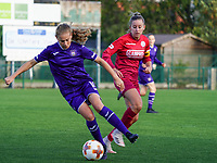 Anderlecht's Jarne Teulings (16) in action during a female soccer game between the women teams of Zulte Waregem B Dames and RSC Anderlecht Ladies on the 1/16 th qualifying round for the Belgian Womens Cup 2020  2021 , on saturday 26 th of September 2020  in Zulte , Belgium . PHOTO SPORTPIX.BE | SPP | SEVIL OKTEM