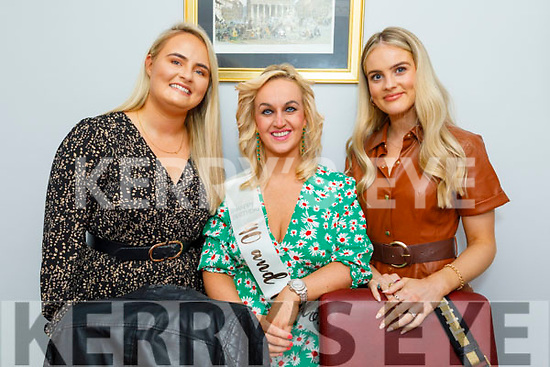 Dr Susan Lawlor celebrating her 40th birthday in Bella Bia on Saturday. L to r: Ciara Kerin, Dr Susan Lawlor and Nicole McEllistrim.