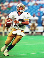 Tom Burgess Winnipeg Blue Bombers 1991. Photo F. Scott Grant
