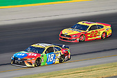 #18: Kyle Busch, Joe Gibbs Racing, Toyota Camry M&M's Toyota Camry and #22: Joey Logano, Team Penske, Ford Mustang Shell Pennzoil