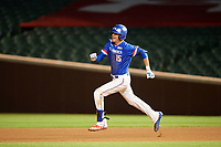 Jordan Groshans (15) of Magnolia High School in Magnolia, Texas running the bases during the Under Armour All-American Game presented by Baseball Factory on July 29, 2017 at Wrigley Field in Chicago, Illinois.  (Mike Janes/Four Seam Images)