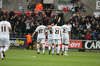 Pictured: (L-R) Angel Rangel, Ferrie Bodde, Federico Bessone and Ashley Williams of Swansea City<br />