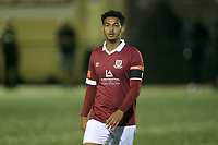 Nathan Livings of Potters Bar during Haringey Borough vs Potters Bar Town, Pitching In Isthmian League Premier Division Football at Coles Park Stadium on 28th September 2021