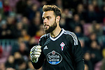 Goalkeeper Sergio Alvarez Conde of RC Celta de Vigo looks on during the Copa Del Rey 2017-18 Round of 16 (2nd leg) match between FC Barcelona and RC Celta de Vigo at Camp Nou on 11 January 2018 in Barcelona, Spain. Photo by Vicens Gimenez / Power Sport Images