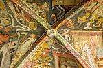 Italy, South Tyrol (Trentino - Alto Adige), Neustift (Novacella) near Bessanone in Valle Isarco: Augustinian monastery (Abbazia di Novacella) - cloister with frescoes | Italien, Suedtirol (Trentino - Alto Adige), Neustift (Vahrn) bei Brixen im Eisacktal: Kloster Neustift - Augustiner Chorherrenstift - Gewoelbefresken im Kreuzgang