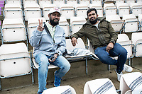 Stoic fans braved the elements during India vs New Zealand, ICC World Test Championship Final Cricket at The Hampshire Bowl on 18th June 2021