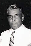 """Undated - Justice Radhabinod Pal (1886 - 1967) was an Indian jurist. He was the Indian member appointed to the International Military Tribunal for the Far East's trials of Japanese war crimes committed during the WWII . He found all the defendants not guilty of Class A war crimes, """"Dissentient judgment of Justice Pal International Military Tribunal for the Far East"""". (Photo by Kingendai Photo Library/AFLO)"""