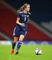 21st September 2021; Hampden Park, Glasgow, Scotland: FIFA Womens World Cup qualifying, Scotland versus Faroe Islands; Christy Grimshaw of Scotland on the ball