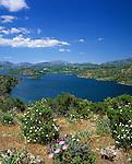 Italy, Sardinia, Lago Flumendosa and mountains of Monti del Gennargentu