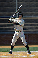 Stuart Fairchild (4) of the Wake Forest Demon Deacons at bat against the Richmond Spiders at David F. Couch Ballpark on March 6, 2016 in Winston-Salem, North Carolina.  The Demon Deacons defeated the Spiders 17-4.  (Brian Westerholt/Four Seam Images)