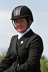 LEXINGTON, KY - APRIL 29: #64 Tsunami and rider Sarah Cousins after their Dressage test in the Rolex Three Day Event, Dressage Day 2, at the Kentucky Horse Park in Lexington, KY.  April 29, 2016 in Lexington, Kentucky. (Photo by Candice Chavez/Eclipse Sportswire/Getty Images)