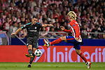 Eden Hazard of Chelsea FC fights for the ball with Antoine Griezmann of Atletico de Madrid during the UEFA Champions League 2017-18 match between Atletico de Madrid and Chelsea FC at the Wanda Metropolitano on 27 September 2017, in Madrid, Spain. Photo by Diego Gonzalez / Power Sport Images