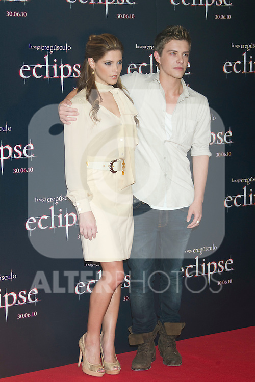 MADRID (28/06/2010).- Actress Ashley Greene and actor Xavier Samuel pose at photocall of 'The Twilight Saga: Eclipse' at Hotel Intercontinental in Madrid, Spain...Photo: Cesar Cebolla / ALFAQUI