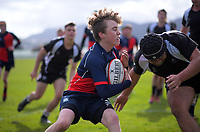 Action from the Wellington premier three boys college rugby match between Hutt International Boys School and Hutt Valley High School at trentham racecourse in Upper Hutt, New Zealand on Saturday, 8 August 2020. Photo: Dave Lintott / lintottphoto.co.nz