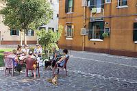 Uno scorcio nei pressi di Calle delle Penitenti, al Sestiere Cannaregio, Venezia.<br /> Neighborood scene near Calle delle Penitenti, at the Sestiere Cannaregio in Venice.<br /> UPDATE IMAGES PRESS/Riccardo De Luca