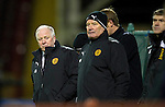 Motherwell v St Johnstone...10.11.10  .Craig Brown and Archie Knox.Picture by Graeme Hart..Copyright Perthshire Picture Agency.Tel: 01738 623350  Mobile: 07990 594431