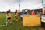 Dejected Hucknall players at full time. Hucknall Town v Heanor Town, 17th October 2020, at the Watnall Road Ground, East Midlands Counties League. Photo by Paul Thompson.
