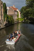 Europe/Belgique/Flandre/Flandre Occidentale/Bruges: Centre historique classé Patrimoine Mondial de l'UNESCO, , le long du canal Groenerei,
