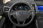 Car pictures of steering wheel view of a 2020 Ford Edge SE 5 Door SUV Steering Wheel