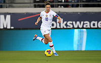 JACKSONVILLE, FL - NOVEMBER 10: Carli Loyd #10 of the United States moves with the ball during a game between Costa Rica and USWNT at TIAA Bank Field on November 10, 2019 in Jacksonville, Florida.