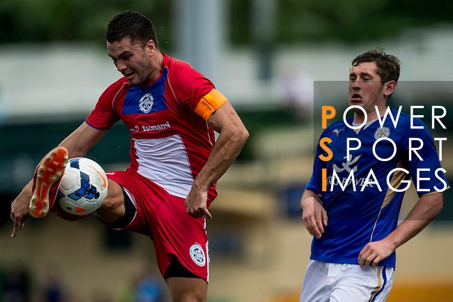 Leicester City vs Yau Yee League Select during the Day 2 of the HKFC Citibank Soccer Sevens 2014 on May 24, 2014 at the Hong Kong Football Club in Hong Kong, China. Photo by Victor Fraile / Power Sport Images
