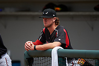 Lake Elsinore Storm pitcher Chris Paddack (25) before a California League game against the Rancho Cucamonga Quakes at LoanMart Field on May 20, 2018 in Rancho Cucamonga, California. Rancho Cucamonga defeated Lake Elsinore 6-2. (Zachary Lucy/Four Seam Images)