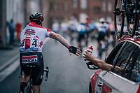 Lotto-Soudal trainee Stan Dewulf (BEL) on bottle duty<br /> <br /> 8th Primus Classic 2018 (1.HC)<br /> 1 Day Race: Brakel to Haacht (193km / BEL)
