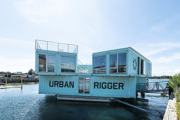 Floating housing made of upcycled containers which Danish company Urban Rigger believes could be developed in Irish ports