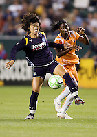 LA Sol's Han Duan moves past Sky Blue's Anita Asante. The LA Sol defeated Sky Blue FC 1-0 at Home Depot Center stadium in Carson, California on Friday May 15, 2009.   .