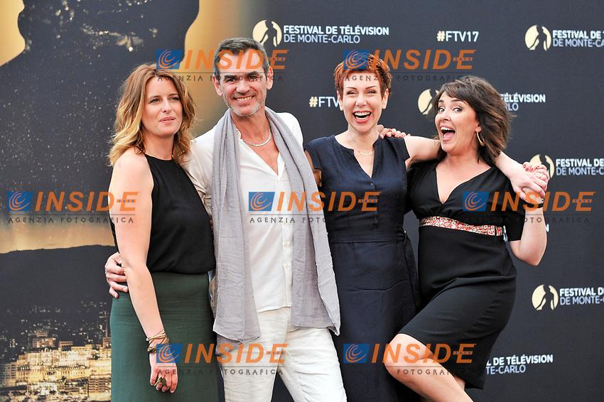 Anne Decis (Plus belle la vie) -  - Jerome Bertin (Plus belle la vie) - Marie Reache (Plus belle la vie) - Stephanie Pareja (Plus belle la vie)<br /> Monaco - 20/06/2017<br /> 57 festival TV Monte Carlo <br /> Foto Norbert Scanella / Panoramic / Insidefoto