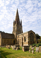 St Marys Church built in 1243, Witney,  England